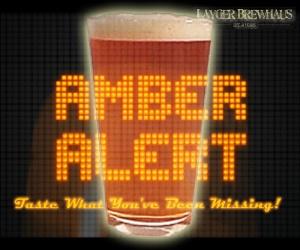 Layger Brewhaus Amber Alert beer