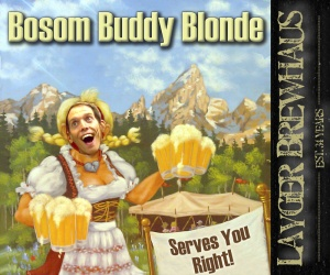 Layger Brewhaus Beer Label - Bosom Buddy Blonde