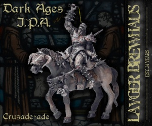 Layger Brewhaus Beer Label - Dark Ages IPA