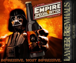 Layger Brewhaus Beer Label - Empire Special Bitter