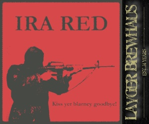 Layger Brewhaus Beer Label - IRA Red Ale