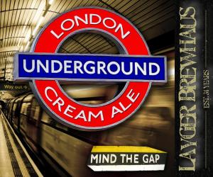 Layger Brewhaus Beer Label - London Underground Cream Ale