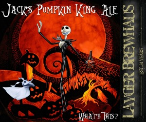 Layger Brewhaus Beer Label - Jack's Pumpkin King Ale