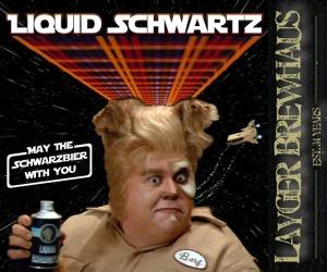 Layger Brewhaus Beer Label - Liquid Schwartz Schwarzbier
