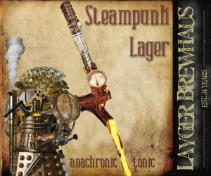 Layger Brewhaus Beer Label - Steampunk Lager