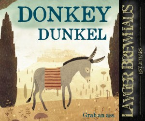 Layger Brewhaus Donkey Dunkel label