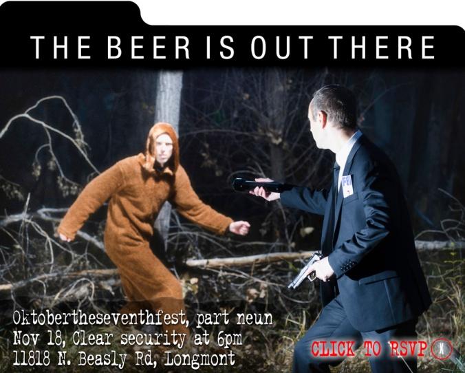Layger Brewhaus Oktobertheseventhfest, part neun X Files invite