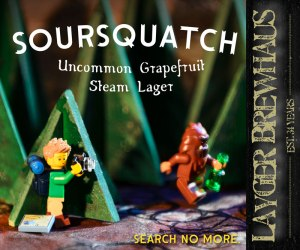 Layger Brewhaus Soursquatch Uncommon Grapefruit Steam Lager label 800x667